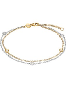 CHRIST Damen-Armband 585er Weißgold, 585er Gelbgold 5 Diamant CHRIST C-Collection bicolor