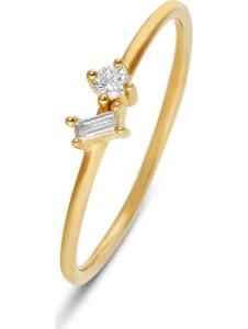 CHRIST Damen-Damenring 1 Diamant CHRIST C-Collection gelbgold
