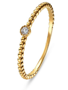 CHRIST Damen-Damenring 1 Diamant CHRIST C-Collection gold