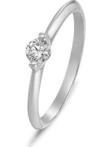 CHRIST Damen-Damenring 1 Diamant CHRIST C-Collection Weißgold
