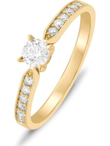 CHRIST Damen-Damenring 1 Diamant CHRIST Diamonds gelbgold