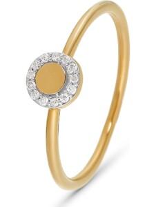 CHRIST Damen-Damenring 13 Diamant CHRIST C-Collection gelbgold