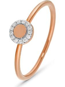 CHRIST Damen-Damenring 13 Diamant CHRIST C-Collection roségold