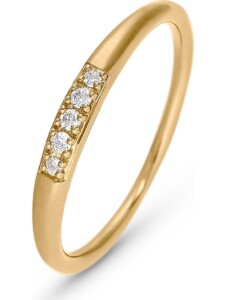 CHRIST Damen-Damenring 5 Diamant CHRIST C-Collection gelbgold