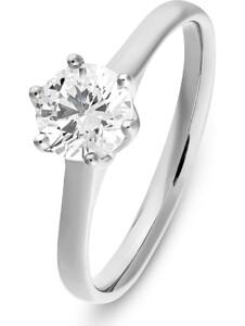 CHRIST Damen-Damenring 1 Diamant CHRIST C-Collection weißgold/Einkaräter