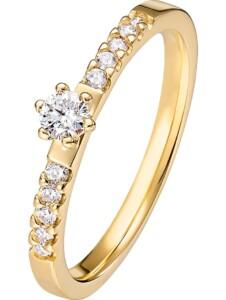 CHRIST Damen-Damenring 585er Gelbgold 1 Diamant CHRIST Diamonds gold