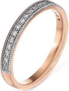 CHRIST Damen-Damenring 585er Roségold 19 Diamant CHRIST C-Collection bicolor