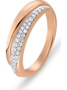 CHRIST Damen-Damenring 585er Roségold 40 Diamant CHRIST C-Collection rosegold