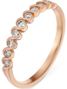 CHRIST Damen-Damenring 585er Roségold 9 Diamant CHRIST C-Collection roségold
