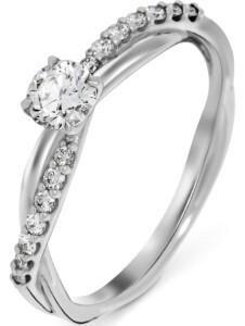 CHRIST Damen-Damenring 585er Weißgold 1 Diamant CHRIST C-Collection weißgold