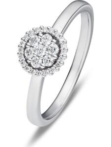 CHRIST Damen-Damenring 585er Weißgold 27 Diamant CHRIST Diamonds weißgold