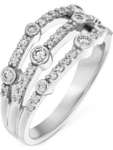 CHRIST Damen-Damenring 585er Weißgold 40 Diamant CHRIST C-Collection weißgold