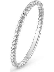 CHRIST Damen-Damenring Ring twisted CHRIST C-Collection weißgold