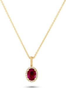 CHRIST Damen-Kette 585er Gelbgold 1 Rubin CHRIST C-Collection gelbgold