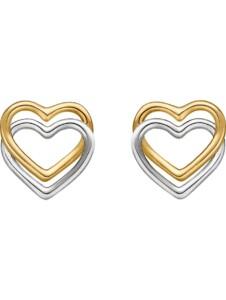 CHRIST Damen-Ohrstecker 375er Gelbgold, 375er Weißgold CHRIST C-Collection gold/silber/bicolor