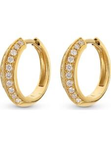 CHRIST Damen-Creolen 585er Gelbgold 40 Diamant CHRIST C-Collection gelbgold