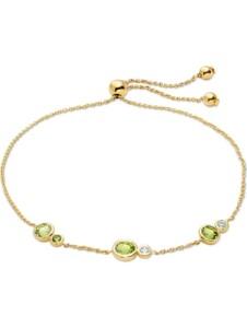 CHRIST Damen-Armband 375er Gelbgold 2 Peridot CHRIST C-Collection gelbgold