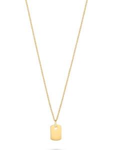 CHRIST Gold Damen-Kette Collier mit Gravurplakette 375er Gelbgold CHRIST GOLD gelbgold