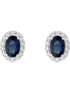 CHRIST Damen-Ohrstecker 585er Weißgold 28 Diamant CHRIST C-Collection blau