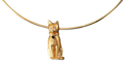 Christiane Wendt: Collier 'Goldbastet', Collier, Schmuck