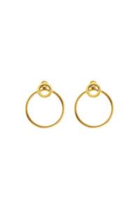 CIRCLE Ear Jackets gelb vergoldet