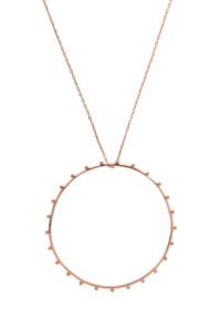 CIRCLE Halskette Rosé vergoldet