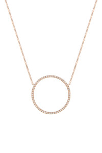 CIRCLE Halskette Roségold