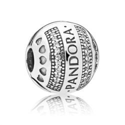 Clip Bead Logo Hearts 925er Silber Zirkonia