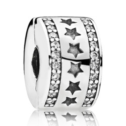 Clip Bead Sterne 925er Silber
