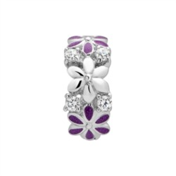Clip Charm 925 Silber Emaille Zirkonia