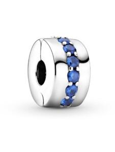 Clip-Charm -Blauer leuchtender Pfad Pandora Silberfarben