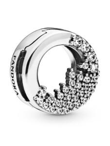 Clip-Charm -Funkelnde Eiszapfen- Pandora Silberfarben