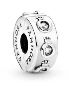 Clip-Charm -Funkelnde Krone- Pandora Silberfarben