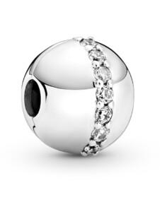 Clip-Charm – Funkelnde Linie – Pandora Silberfarben