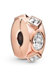 Clip-Charm -Geometrische Formen- Pandora Rosé