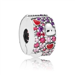 Clip Charm Hearts of love aus Sterlingsilber