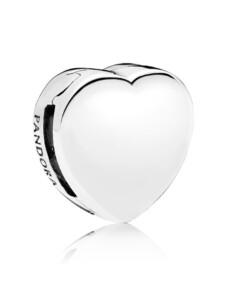 Clip-Charm -Herz- Pandora Silberfarben