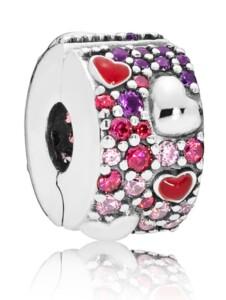 Clip-Charm -Herzen der Liebe- Pandora Multicolor