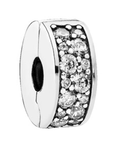 Clip-Charm – Klarer Pavé – Pandora Weiß