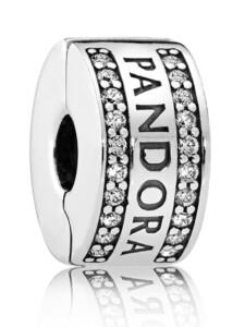 Clip-Charm -Pandora Logo- Pandora Weiß