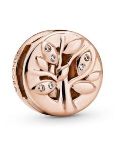 Clip-Charm – Funkelnder Familienstammbaum – Pandora Reflexions – Pandora Rosé