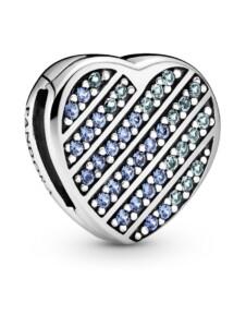 Clip-Charm -Pavé Herz- Pandora Silberfarben