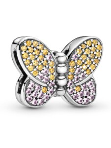 Clip-Charm – Pavé Schmetterling – Pandora Reflexions Pandora Silberfarben