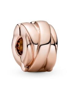 Clip-Charm -polierte Bänder- Pandora Rosé