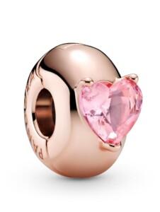 Clip-Charm -Rosa Herz- Pandora Rosé