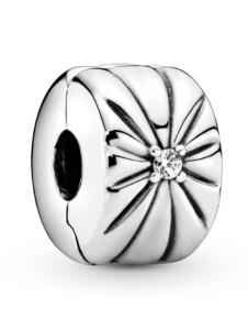 Clip-Charm – Funkelnder Sonnenstrahl – Pandora Silberfarben