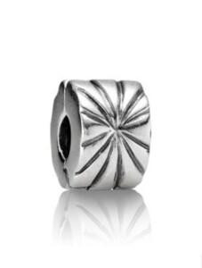 Clip-Charm -Sonnenstrahlen- Pandora Silberfarben