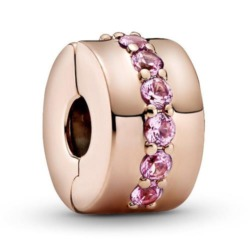 Clip mit rosafarbenen Zirkonia, ROSE