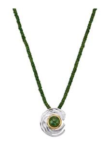 Collier Diemer Farbstein Grün