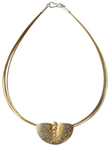 Collier 'Goldener Halbmond', Collier, Schmuck